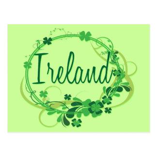 Ireland Shamrocks Postcard