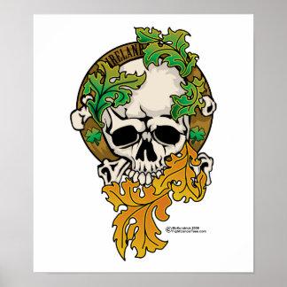 Ireland Skull Tattoo Posters