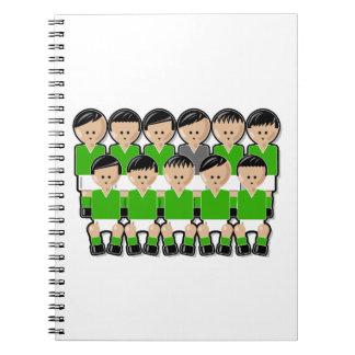 Ireland soccer team ai spiral notebooks