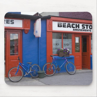 Ireland, Strandhill. Storefronts with bicycles Mouse Mat