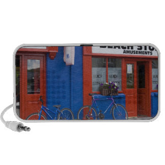 Ireland, Strandhill. Storefronts with bicycles Travel Speaker