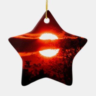 Ireland Sunrise Ceramic Star Decoration