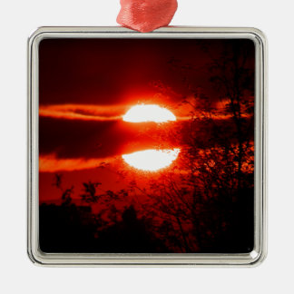 Ireland Sunrise Silver-Colored Square Decoration