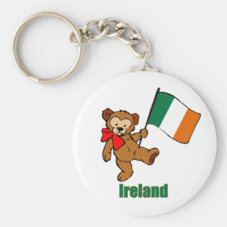 Ireland Teddy Bear Keychain