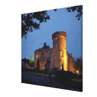 Ireland, the Dromoland Castle lit at dusk, Stretched Canvas Prints