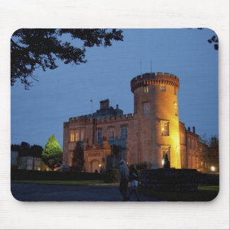 Ireland, the Dromoland Castle lit at dusk, Mouse Mat