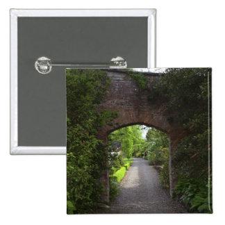 Ireland, the Dromoland Castle very green 15 Cm Square Badge