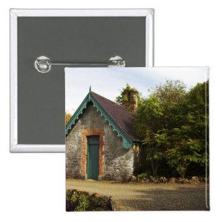 Ireland, the Dromoland Castle walled garden 15 Cm Square Badge
