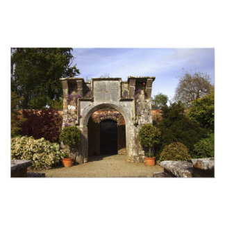 Ireland, the Dromoland Castle Walled Garden Photographic Print