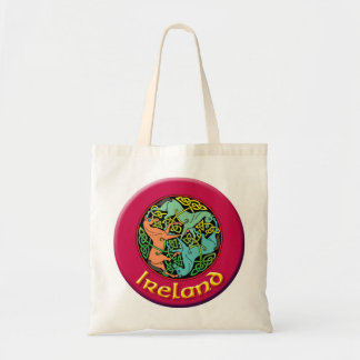 Ireland Tote with Horses Triskele Budget Tote Bag