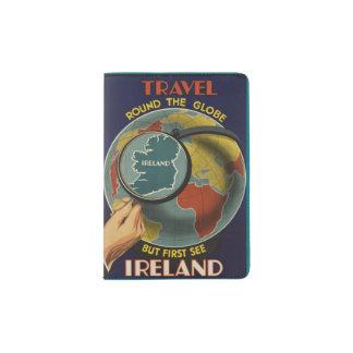 Ireland Travel Poster Passport Holder