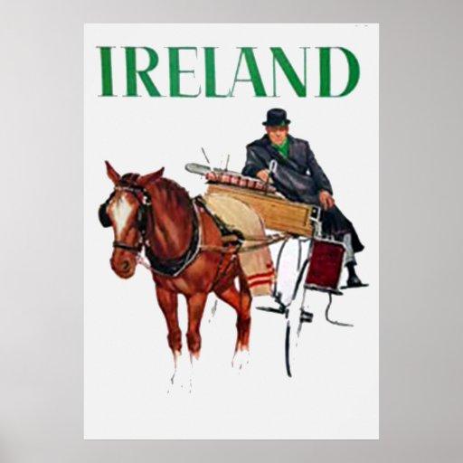 Ireland Travel vintage poster