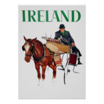 Ireland Travel vintage poster Posters