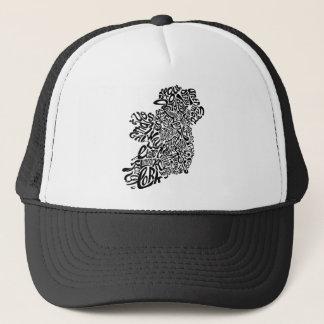 Ireland Typoraphy Trucker Hat