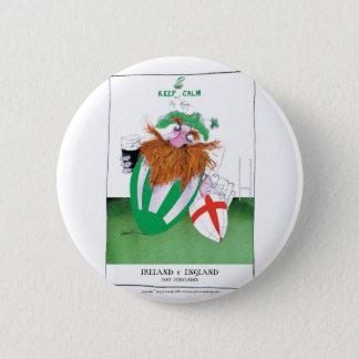 ireland v england rugby balls tony fernandes 6 cm round badge