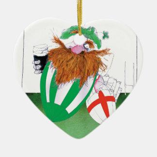 ireland v england rugby balls tony fernandes christmas ornament