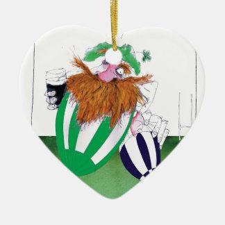ireland v scotland rugby balls tony fernandes christmas ornament
