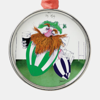 ireland v scotland rugby balls tony fernandes Silver-Colored round decoration