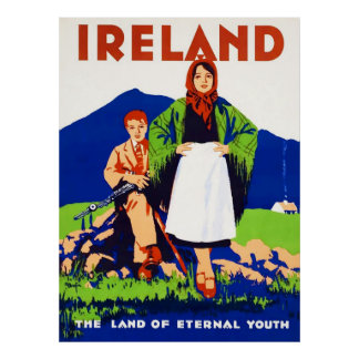 Ireland Vintage Travel Poster