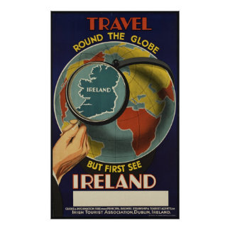 Ireland Vintage Travel Poster Ad Retro Prints