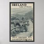 Ireland Vintage Travel Poster Ad Retro Prints