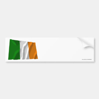 Ireland Waving Flag Bumper Stickers