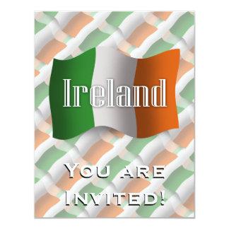 Ireland Waving Flag 11 Cm X 14 Cm Invitation Card