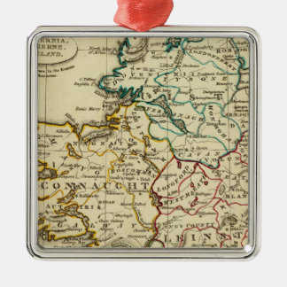 Ireland with boundaries outlined christmas ornament