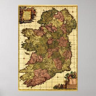 IrelandPanoramic MapIreland Posters