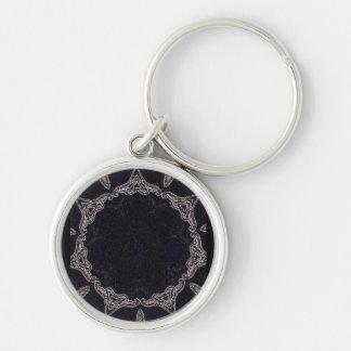 irena, kaleidoscope Silver-Colored round key ring