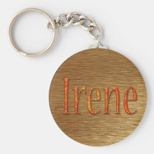 IRENE Name-Branded Gift Item Basic Round Button Key Ring