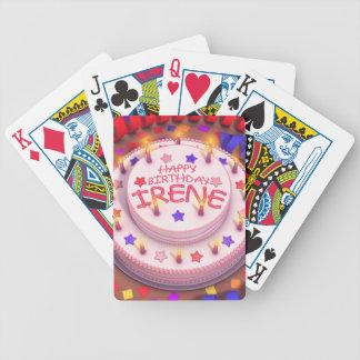 Irene s Birthday Cake Bicycle Playing Cards