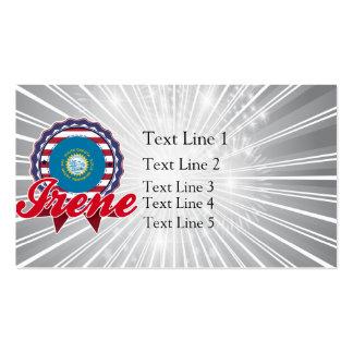 Irene, SD Business Card Templates