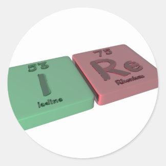 ires as Ir Iridium and Es Einsteinium Round Sticker