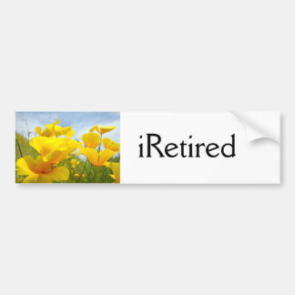 iRetired bumper sticker Retired Retirement Floral