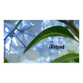 iRetired Business Cards Retimrent is Sweet Blue