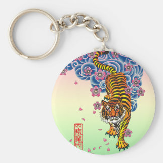 Irezumitora Basic Round Button Key Ring