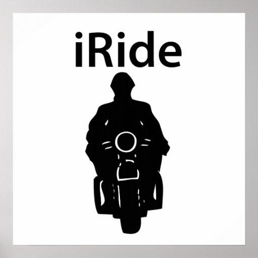 iRide Motorcycle Print
