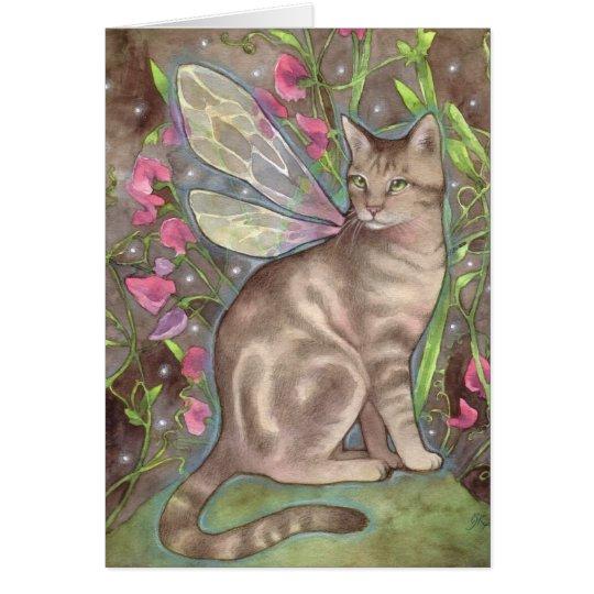 Iridescence - Fantasy Fairy Cat Art Card