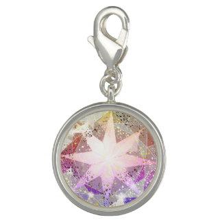Iridescence Pink Lavender Compass Rhinestone