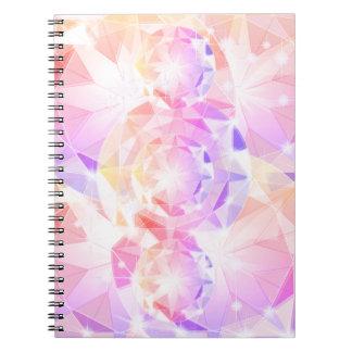 Iridescence Pink Lavender Compass Rhinestone Notebooks