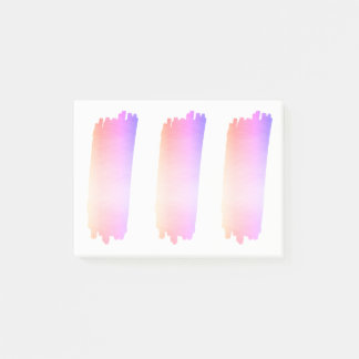 Iridescence Pink Lavender Watercolor Brush Post-it Notes