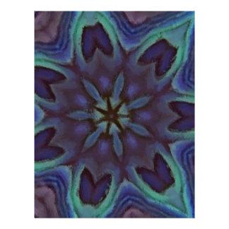 Iridescent Abalone Shell Kaleidoscope Flyer Design