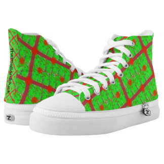 Iridescent Christmas High-Tops