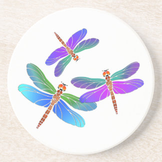Iridescent Dive Bombing Dragonflies Coaster