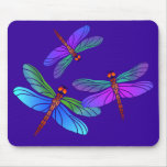 Iridescent Dive Bombing Dragonflies Mouse Mat