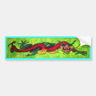 Iridescent Dragon bumper sticker