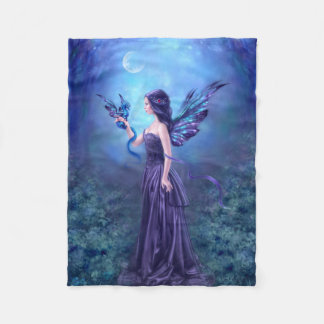 Iridescent Fairy & Dragon Art Fleece Blanket
