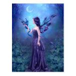 Iridescent Fairy & Dragon Art Postcard