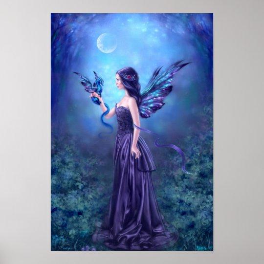Iridescent Fairy & Dragon Poster Art Print